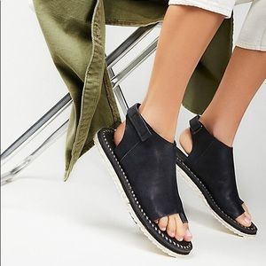 Free People Carlsbad Sandals Black Leather